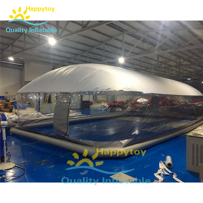 Free shipping customized inflatable swimming pool cover tent durable pvc ballon inflatable air dome for pool
