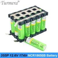 3s 12v 배터리 18650 팩 ncr18650b 3400mah 3s5p 17ah 용접 배터리 전자 자전거 배터리 정원 도구 홀더 사용자 지정