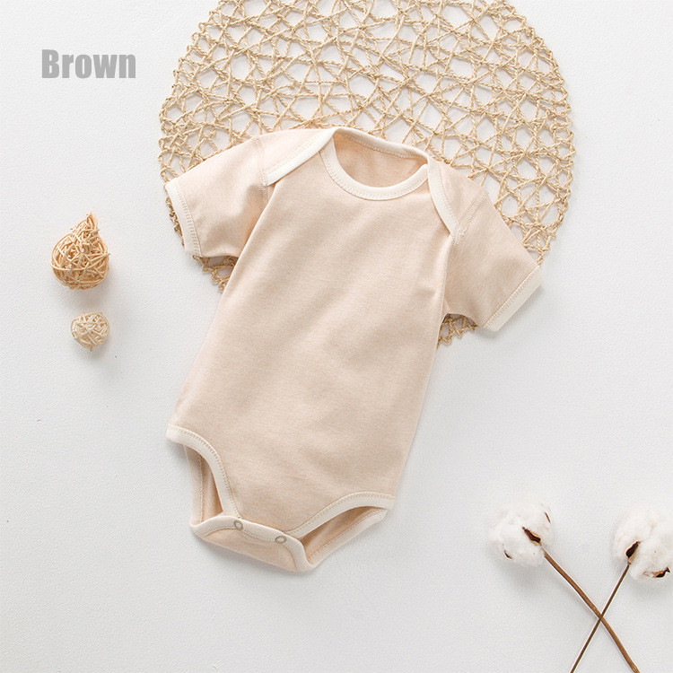Organic Cotton Striped Light Brown Bodysuit