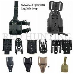 التكتيكية الساق/حزام الحافظة قطرة محول Safariland QLS/SOG قاعدة تركيب مزودة بمشبك قطرة الساق منصة الملحقات