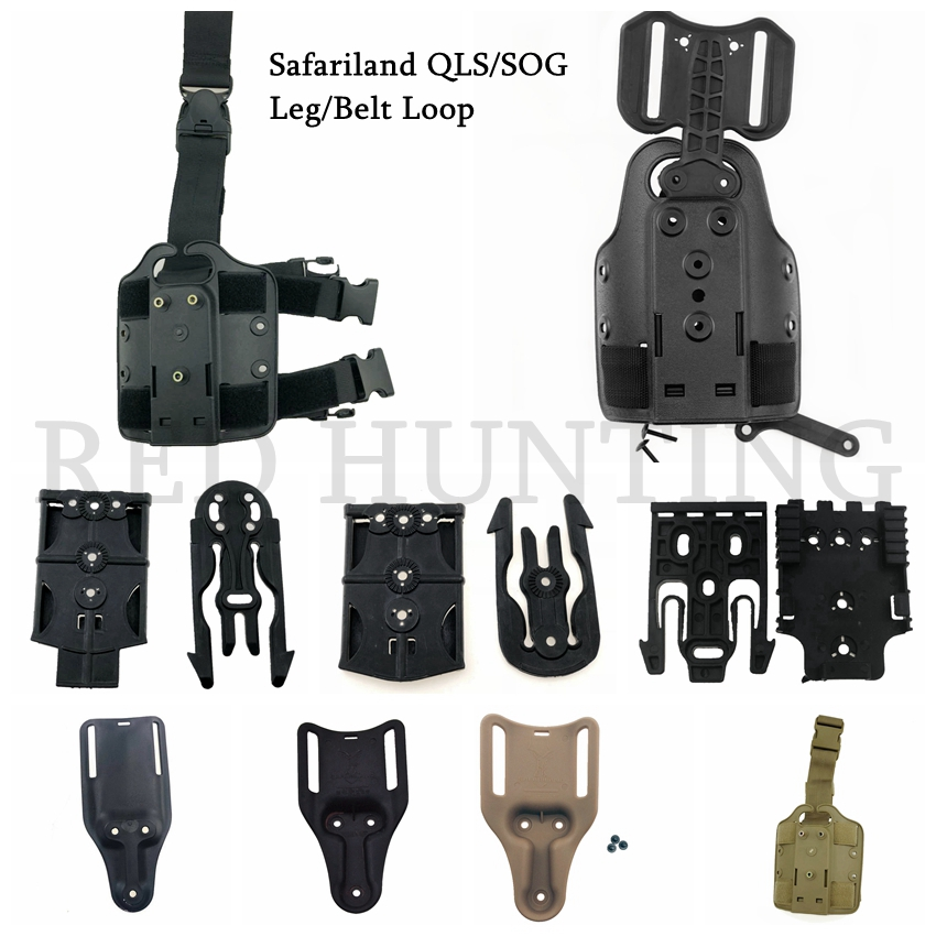 Tactical Leg/Belt Holster Drop Adapter Safariland QLS/SOG Clip Mount Drop Leg Platform Accessories