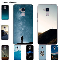 Funda de teléfono I am alone para Huawei Honor 3C, 5C, 5X, GR5, V8, Note 10, bolsas de Color a la moda, dibujo animado impreso, móvil