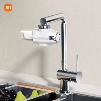 Nowy Xiaomi Yunmi kran filtr do wody filtr ceramiczny oczyszczacz wody wodociągowej filtr do wody kuchnia kran filtr ChlorineTransparent filtr okno tanie i dobre opinie NONE CN (pochodzenie)