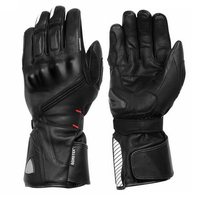 NEW Warm 100% Waterproof Gloves Motorcycle Protective ATV Riding Winter Black Genuine Leather Glove