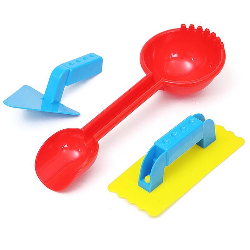 3pcs/Set Winter Kids Children Snow Shovel Toys Exercise Practical Ability Color Cognition Beach Sand Play Tools Kit Gifts