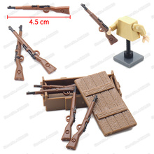 World War 2 Rifle Military Weapons Building Block Assemble Figures Army Moc Battlefield Diy Model Educational Christmas Gift Toy sino japanese war world war 2 ww2 chinese eighth route army military building block toy figures brick with weapons 71008