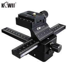 KIWIFOTOS Camera Camcorder 4 Way Macro Focusing Focus Rail Slider Steady Steadicam DSLR Video Stabilizer for Canon/Nikon/Sony(China)