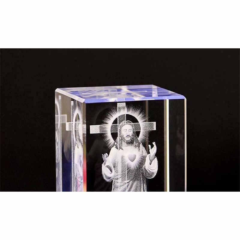 Jesus K9 Kristall Laser 3d Interne Statue Skulptur Inter Gravur Figuren Miniaturen Kristall Religiose Kunst Handwerk Wohnkultur Aliexpress