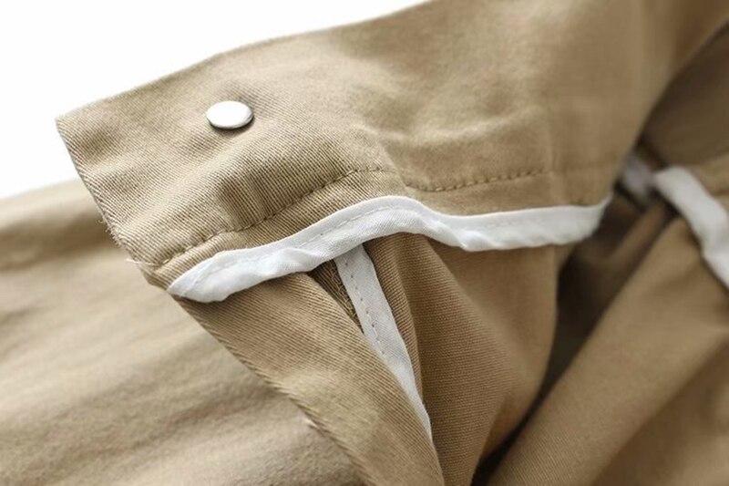 Primavera feminino preto exército carga calças unissex