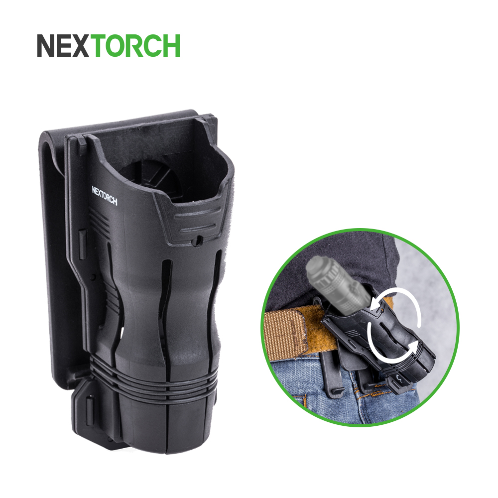 NEXTORCH 360 Degree Tactical Flashlight Holster Angle Rotatable Duable Flashlight Holder V6 For 27mm-30mm Diameter Flashlight