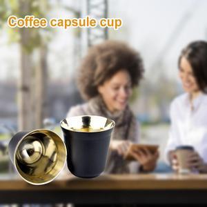 80ml de doble pared de acero inoxidable Espresso aislamiento taza de café cápsula taza