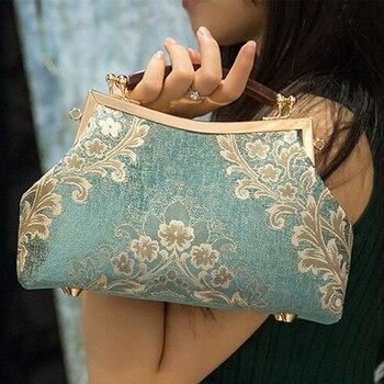Angelatracy 2020 Floral Fashion DIY Court Tassel Metal Handle Material Kit Bag bolsa сумка женская Women Totes Handbag