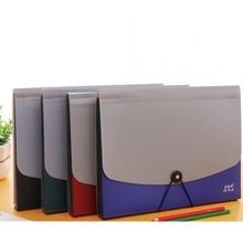 Простой многослойный лоток для файлов формата А4, папка для журналов, с пряжкой, текстовая сумка для заметок, Студенческая бумажная сумка, многослойная коробка для файлов, офисная, школьная