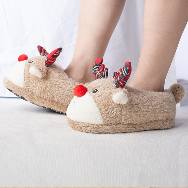 Suihyung Kids Cartoon Plush Slippers Winter Warm Children Indoor Floor Shoes Boys Girls Cute Animals Cotton Shoes Home Slippers