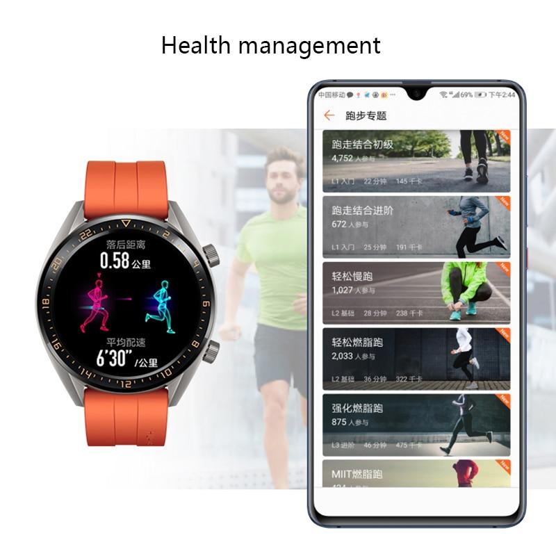 Смарт часы HUAWEI GT, водонепроницаемые, трекер сердечного ритма, Поддержка NFC, gps, мужской спортивный трекер, Смарт часы GT - 3