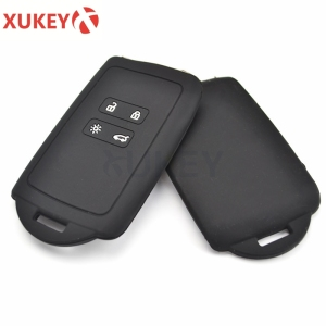 Image 5 - Silicone Car Key Case For Renault Megane Koleos Kadjar Clio Captur kwid for Dacia Logan Duster 2018 2019 2020 Cover Remote Fob
