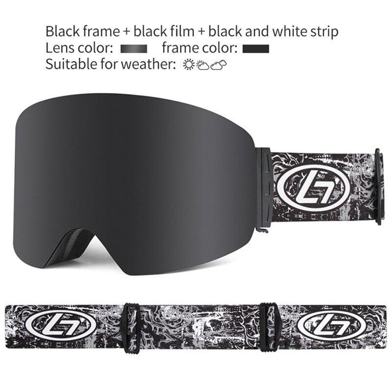 Lunettes de Ski lunettes de neige hommes UV400 Anti-buée revêtements Skateboard Snowboard unisexe Ski lunettes femmes lunettes de soleil Sports d'hiver