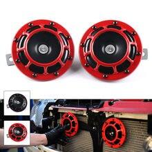 Czerwony/czarny Hella Super Loud kompaktowy zestaw elektryczny do wydmuchiwania powietrza 12V 115DB do motocykla samochodu 2 sztuk/zestaw