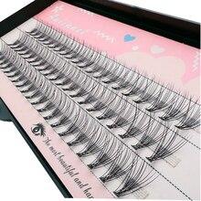 10D 60 кластеров/коробка кластерных ресниц, густые Индивидуальные ресницы для наращивания, пучки ресниц, профессиональный макияж, накладные р...