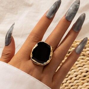 Модный Docona черной эмалью в виде не сужающийся книзу массивный миди кончик пальца кольцо для мужчин и женщин с геометрическим узором большие...