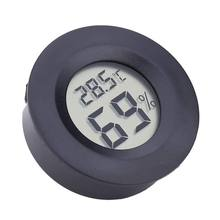 Круглый электронный термометром и гигрометром декоративные часы