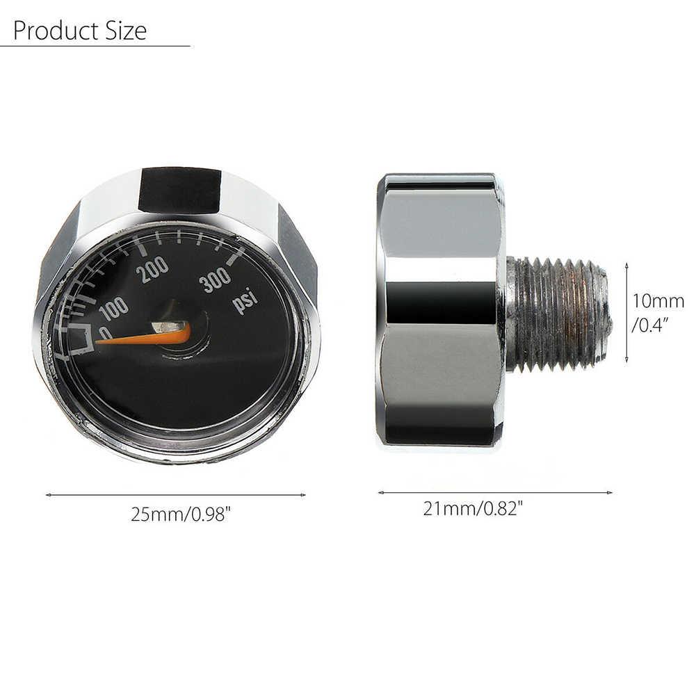 2 قطعة 25 مللي متر 300PSI مايكرو الهواء قياس الضغط ل HPA كرات ماركر CO2 خزان PCP YS-BUY