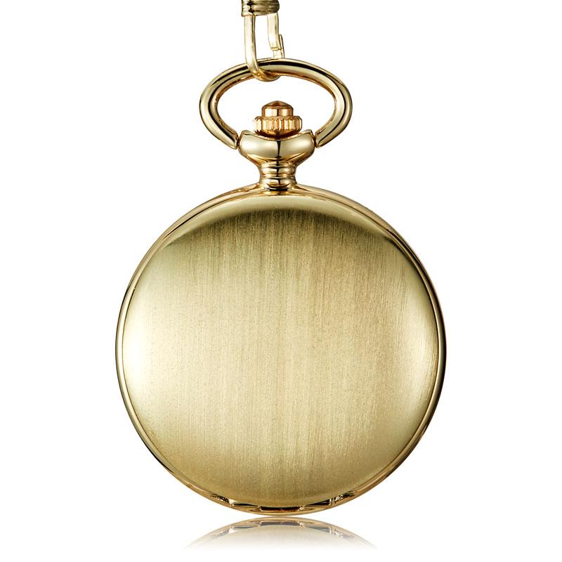 Retro Fashion Bronze Smooth Steampunk Quartz Pocket Watch Roman Stainless Steel Pendant Long Chain Gifts For Men Women Friend