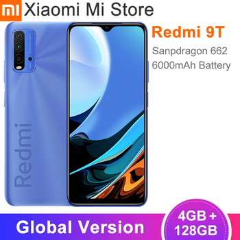 Teléfono Inteligente Xiaomi Redmi 9T versión Global, 4GB de RAM, 128GB de ROM, 662 Snapdragon, batería de 6000mAh, cámara trasera de 48MP, pantalla FHD de 6,53 pulgadas