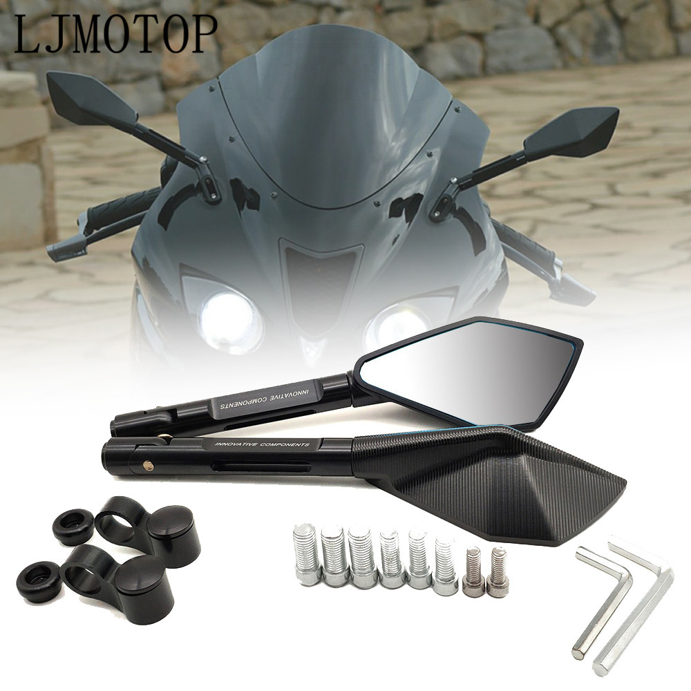 Motorcycle Mirrors Moto Side Rearview MirrorsCNC aluminum For Buell XB12 all models up to 08 only XB9 all models|Side Mirrors & Accessories| |  - title=