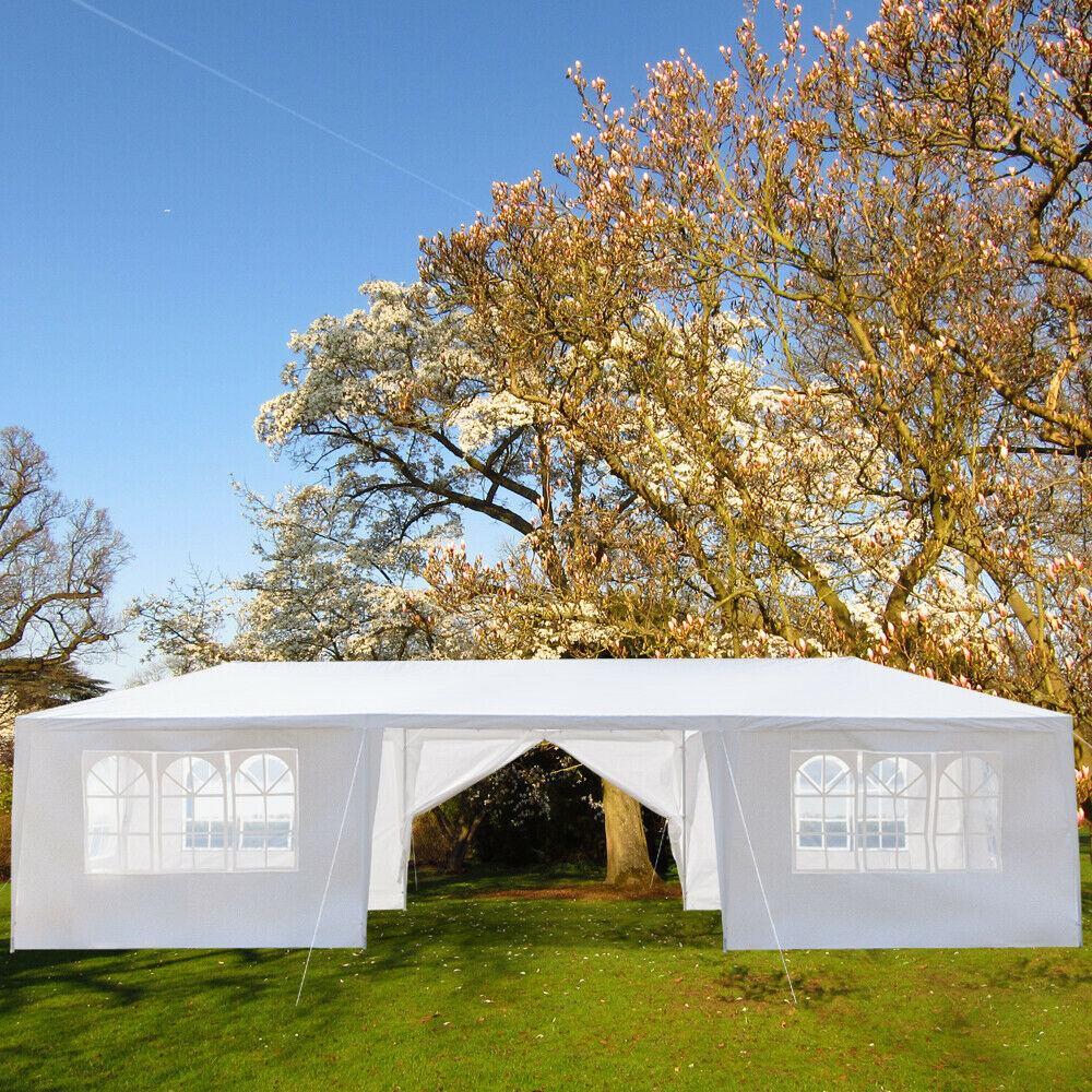 79x30FT portátil actualización exteriores gazebo toldo fiesta boda impermeable carpa jardín gazebo de patio pabellón atender eventos 8 paredes - 2