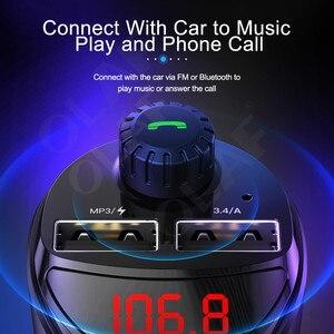 Image 2 - Olaf Bluetooth Trên Ô Tô Với Bộ Phát FM 3.4A Nhanh Dual USB Âm Thanh MP3 Người Chơi Thẻ TF Xe Hơi Xe Ô Tô sạc Điện Thoại