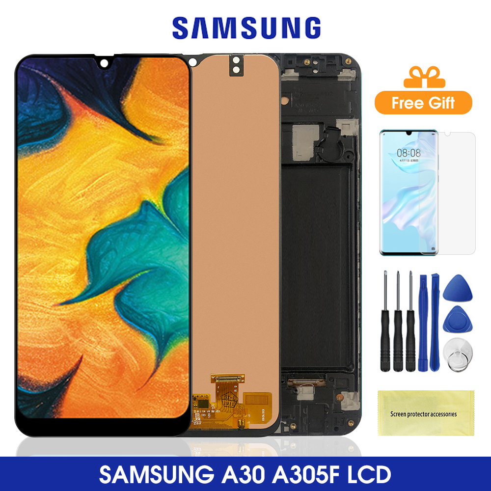 6.4'' A305 <font><b>Lcd</b></font> For <font><b>Samsung</b></font> <font><b>Galaxy</b></font> <font><b>A30</b></font> <font><b>LCD</b></font> Display Touch Screen With Frame Digitizer Assembly For <font><b>Samsung</b></font> A305 A305/DS A305F <font><b>Lcd</b></font> image
