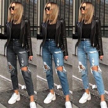 Jeans ladies pencil pants high waist jeans ladies casual jeans ladies jeans ladies hot sale jeans ladies hole jeans jeans att jeans