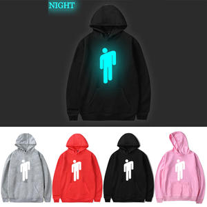 Hoodie Men Sweatshirt Couple Billie Eilish Black Cotton Women/men No Hot Keep-Warm Luminous