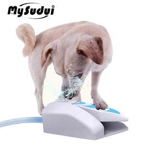 Automático cão de estimação fonte de água ao ar livre gato cão alimentador de água potável dispensador tigela interativa alimentação do cão brinquedo para animais de estimação suprimentos