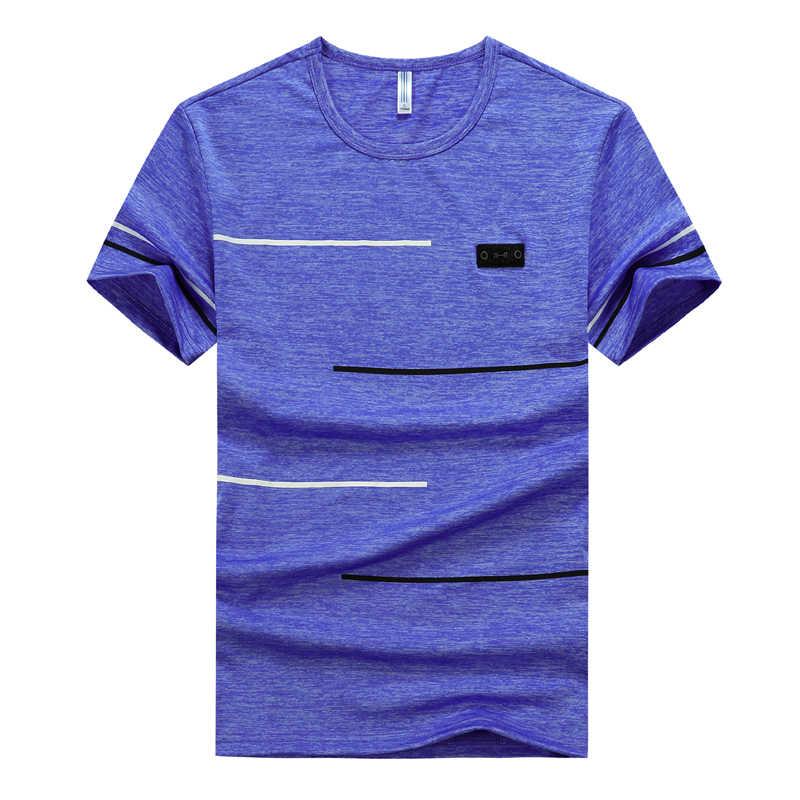 Artı boyutu 6XL 7XL 8XL M-9XL tişört erkek T Shirt yaz spor koşu üst giyim Tees hızlı kuru erkek spor Tees erkek rahat spor