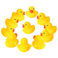 60 stücke/120 stücke Mini Gelb Gummi Ducks Bad Spielzeug Baby Dusche Wasser spielzeug Reine Natürliche Cute Rubber Ducky für Baby Kinder Spielzeug