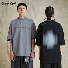 CoooColl T-shirt 19SS HIP HOP STREETWEAR Summer Casual YIN AND YANG Double sided Colour bumping Theme Short Sleeves TEE Men