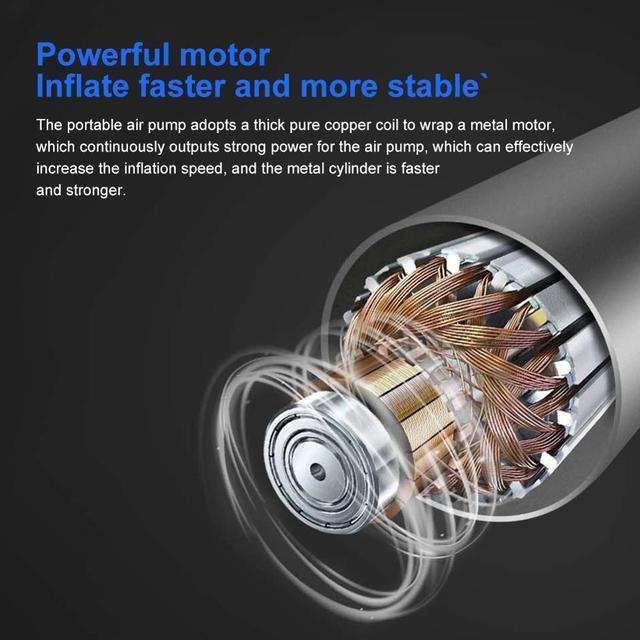 Compresseur d'air de voiture DC 12V numérique pneu gonfleur pompe à Air 150 PSI Auto pompe à Air pour voiture moto lumière pneu pompe pour voiture moteur  