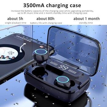 Headphones TWS Earphones Wireless Bluetooth Earphone Earbuds Handsfree Headphone with Microphone Ear