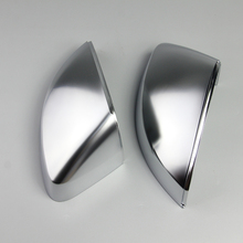 1 Pair of Matte Chrome Rearview Mirror Shell Cover Protection Cap For Audi A3 S3 RS3 2014 2015 2016 2017 2018 Car Styling