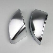 1 пара матовых хромированных чехлов для зеркала заднего вида Защитная крышка для Audi A3 S3 RS3 2014 2015 2016 2017 2018 автостайлинг