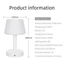 Bezprzewodowy głośnik Bluetooth nocne oświetlenie nocne Smart Contact akumulatorowa lampa stołowa led w Lampy na biurko od Lampy i oświetlenie na