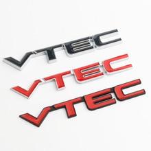 3D Metal VTEC amblem rozeti araba sticker çıkartması Honda CIVIC CRV şehir cb400 VTEC vfr800 cb750 crf250X cbr250rr araba çıkartmalar