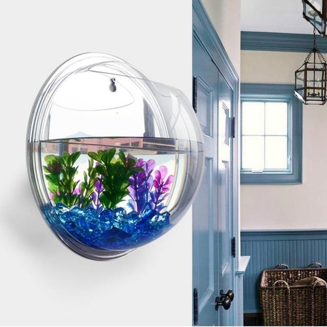 Acrylic Fish Bowl Wall Hanging Aquarium Tank Aquatic Pet Supplies Pet Products Wall Mount Fish Tank for Betta Fish 3