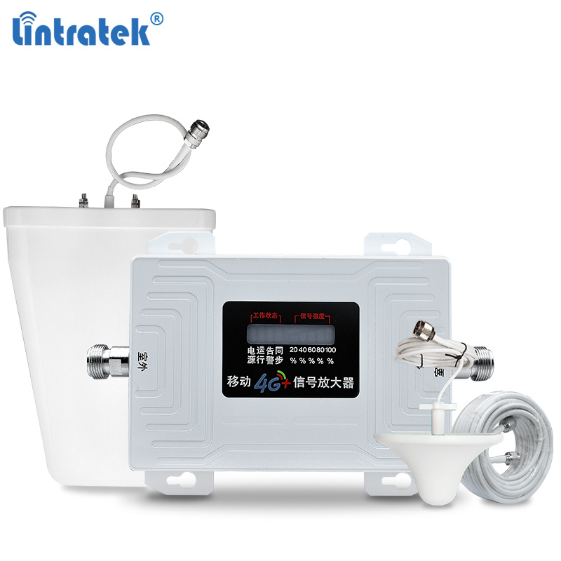 Lintratek Band 40 Signal Booster 2300MHz 4G Repeater TDD 2300 Ampli 70dB AGC Cellphone Signal Amplifier 4G LTE Full Kit