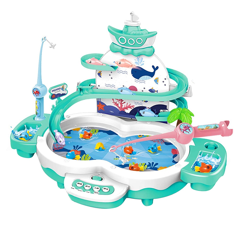 Fishing Games Toys for Kids 3 in 1 Electric Toys with Songs Story & Animal Sounds - Learning Toys for 3 4 5 Year Old