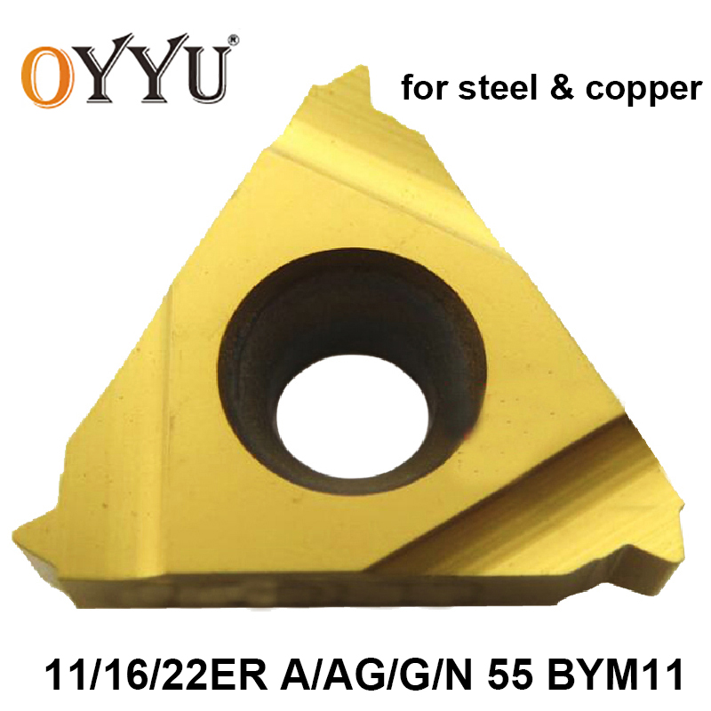 OYYU 11ER 16ER 22ER A55 AG55 G55 N55 BYM11 11 16 22 ER A AG G N 55 For Steel Threading Lathe Cutter Turning Tool Carbide Inserts