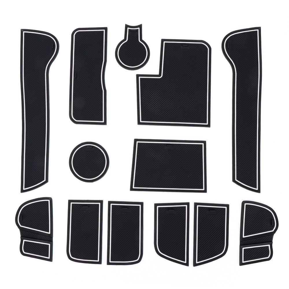 13 PCS Door Groove Mat For Kia Sportage R 2011 2012 2013 2014 2015 Gate Slot Pad Car Styling Against Dust Keep Clean