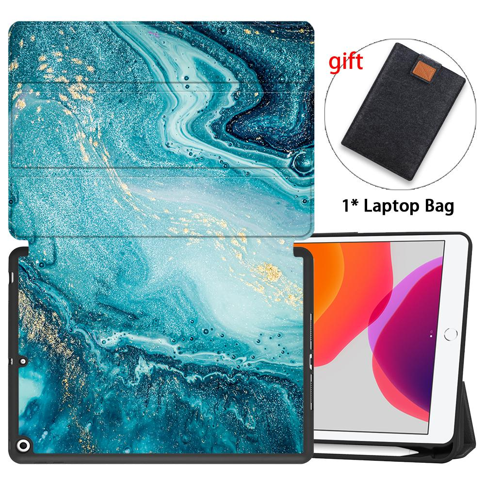 Back iPad Smart MTT TPU Marble Leather 8th Gen Soft Flip Case inch 10.2 Stand PU For 7th